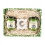 Confezione regalo - Il Pesto del Mugugno Genovese, 130 gr X 2 con Mortaio in marmo - Il Mugugno genovese