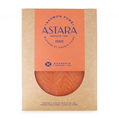 Saumon fumé d'Ecosse, couverture de 4 tranches, 160 gr - Astara