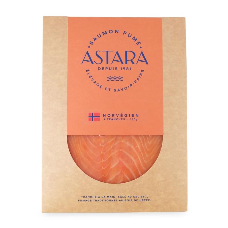 Norwegian smoked salmon, 4 slices, 160 gr - Astara
