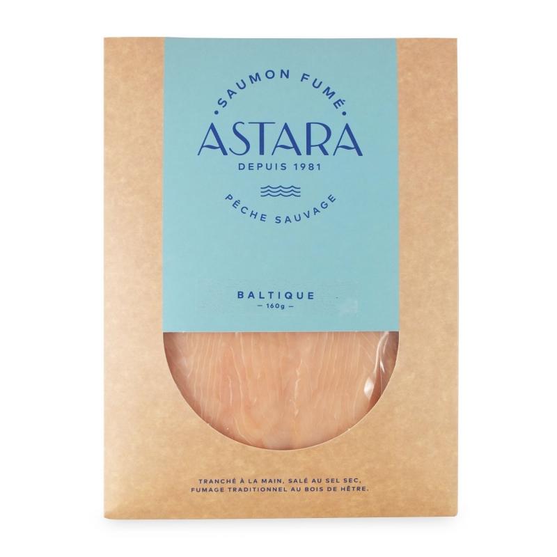 """Saumon sauvage """"blanc"""" de la Baltique, 160 gr, coupé à la main - Astara"""