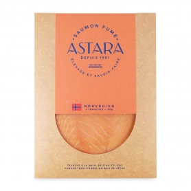 Norwegian smoked salmon, 2 slices, 80 gr - Astara
