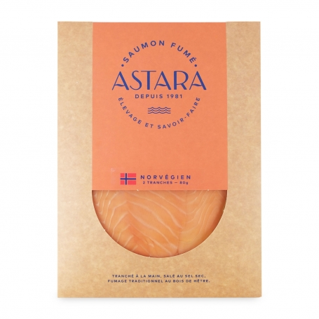 Norwegian smoked salmon, 2 slices, 80 gr - Astara