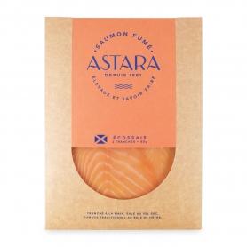Saumon fumé d'Ecosse, couverture de 2 tranches, 80 gr - Astara