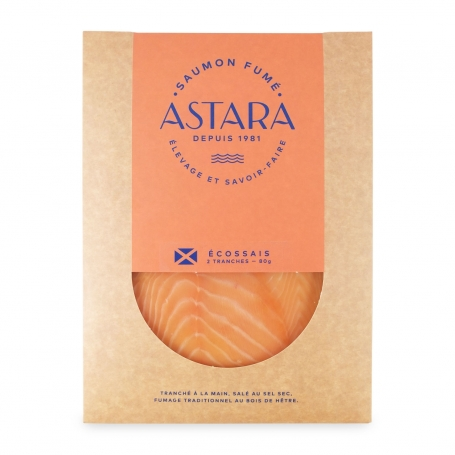 Scottish smoked salmon, cover from 2 slices, 80 gr - Astara