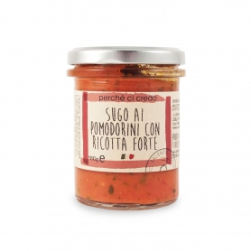 Sauce Tomate et Ricotta fromage, 180 gr - Perché ci credo