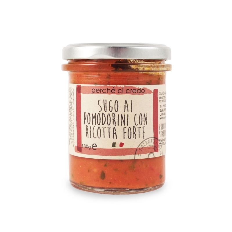 Sugo ai pomodorini con ricotta forte, 180 gr - Perché ci credo