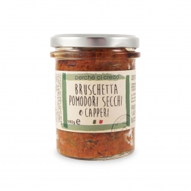 Sun-Dried Tomato Sauce and capers, 180 gr - Perché ci credo