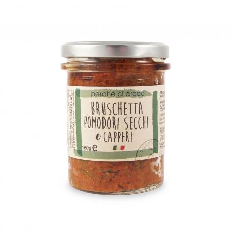 Bruschetta Pomodori secchi e capperi, 180 gr - Perché ci credo