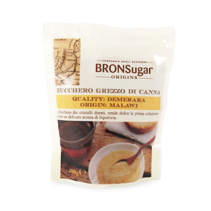 Zucchero grezzo di canna Demerara origine Malawi, 400 gr - BronSugar