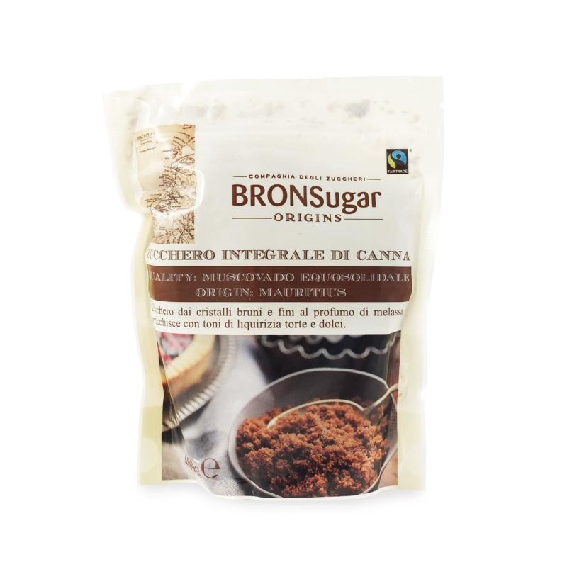 Zucchero integrale di canna Muscovado origine Mauritius 400 gr - BronSugar