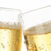 Champagner und Blasen